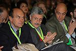 PIERLUIGI BERSANI, MASSIMO D'ALEMA E NICOLA LATORRE<br /> ASSEMBLEA NAZIONALE PARTITO DEMOCRATICO<br /> FIERA DI ROMA - 2009