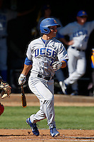 Luke Swenson #26 of the UC Santa Barbara Gauchos bats against the Cal State Northridge Matadors at Matador Field on May 10, 2013 in Northridge, California. UC Santa Barbara defeated Cal State Northridge, 6-1. (Larry Goren/Four Seam Images)