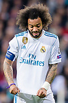Marcelo Vieira Da Silva of Real Madrid reacts during the UEFA Champions League 2017-18 quarter-finals (2nd leg) match between Real Madrid and Juventus at Estadio Santiago Bernabeu on 11 April 2018 in Madrid, Spain. Photo by Diego Souto / Power Sport Images