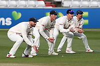 The Essex slip cordon in position during Essex CCC vs Worcestershire CCC, LV Insurance County Championship Group 1 Cricket at The Cloudfm County Ground on 9th April 2021