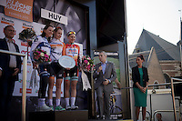 2015 Flèche Wallonne Féminine podium:<br /> 1/ Anna van der Breggen (NLD/Rabobank-Liv)<br /> 2/ Annemiek van Vleuten (NLD/Bigla)<br /> 3/ Megan Guarnier (USA/Boels-Dolmans)