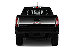 Straight rear view of 2017 GMC Canyon Denali-Crew 4 Door Pickup Rear View  stock images