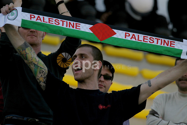 A Friendly football match between Palestinian youth team and Italian Jala team (white) play at faisal hussein stadium in the west bank city of ramallah on april 5,2009. APAIMAGES PHOTO /Issam Rimawi