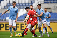 Sergej Milinkovic-Savic of SS Lazio , Dusan Vlahovic of ACF Fiorentina and Gonzalo Escalante of SS Lazio compete for the ball during the Serie A football match between SS Lazio and ACF Fiorentina at Olimpico stadium in Roma (Italy), January 6th, 2021. Photo Andrea Staccioli / Insidefoto