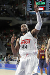 Real Madrid's Marcus Slaughter celebrates during Liga Endesa ACB 2nd Final Match.June 21,2015. (ALTERPHOTOS/Acero)
