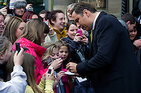Britains Got Talent judges leaving the Balmoral Hotel and head for the Festival Theatre, Edinburgh, Scotalnd, 11th February, 2012 . Pictured David Walliams.Picture:Scott Taylor Universal News And Sport (Europe) .All pictures must be credited to www.universalnewsandsport.com. (Office)0844 884 51 22.