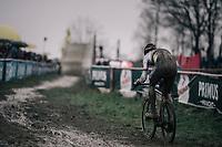 CX world champion Wout Van Aert (BEL/Crelan-Charles)<br /> <br /> Elite Men's Race<br /> GP Sven Nys / Belgium 2018