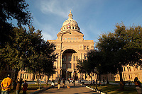 The Texas State Capitol is located in Austin, Texas and is the fourth building in Austin to serve as the seat of Texas government. It houses the chambers of the Texas Legislature and the office of the governor of Texas.