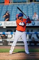 New York Mets Robinson Cano (4), on rehab assignment with the Syracuse Mets, batting during a game against the Charlotte Knights on June 11, 2019 at NBT Bank Stadium in Syracuse, New York.  (Mike Janes/Four Seam Images)