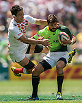 South Africa vs Japan during the HSBC Sevens Wold Series match as part of the Cathay Pacific / HSBC Hong Kong Sevens at the Hong Kong Stadium on 28 March 2015 in Hong Kong, China. Photo by Xaume Olleros / Power Sport Images