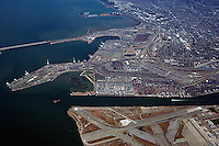 aerial photograph Port of Oakland, California