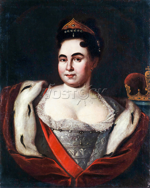 Catherine I of Russia (1684-1727), portrait painting, 1720