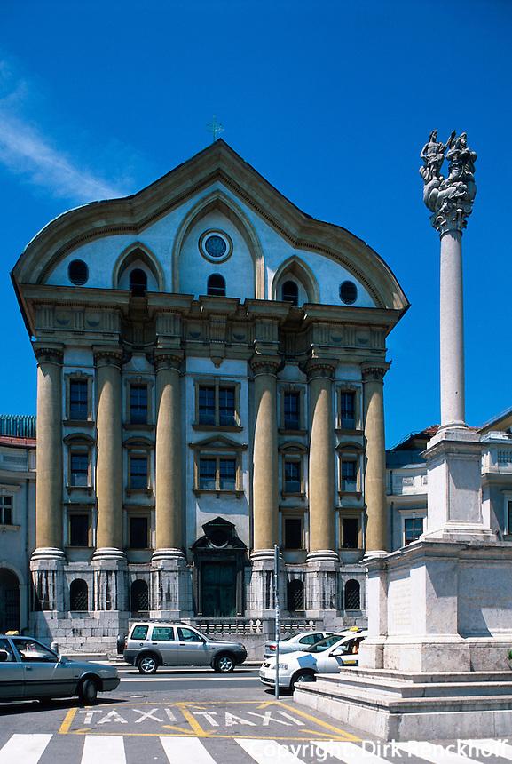 Ursulinenkirche in Ljubljana, Slowenien