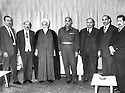 Iraq 1965   <br /> In Baghdad, meeting of Iraqi and Kurdish personalities to discuss a project of decentralization concerning Kurdistan, right, Zayd Ahmed Othman <br /> Irak 1965 <br /> A Baghdad, rencontre d'officiels irakien et kurdes pour discuter d'un projet de decentralisation pour le Kurdistan, a droite, Zayd Ahmed Othamn