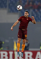 Calcio, Europa League, Gguppo E: Roma vs Austria Vienna. Roma, stadio Olimpico, 20 ottobre 2016.<br /> Roma's Kostas Manolas heads the ball during the Europa League Group E soccer match between Roma and Austria Wien, at Rome's Olympic stadium, 20 October 2016. The game ended 3-3.<br /> UPDATE IMAGES PRESS/Isabella Bonotto