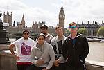 Beaudein Waaka (L), Rieko Ioane,  Dylan Collier, Ambrose Curtis, Sam Dickson. London Eye. 13 May 2015. England. Photo: Marc Weakley