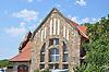 Gruppen-Wasserpumpwerk Ingelheim (1905-06), im Jugendstil erbaut von dem Mainzer Architekten Wilhelm Lenz mit Flonheimer Sandstein