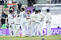 India celebrate the wicket of Neil Wagner, New Zealand to Ravichandran Ashwin, India during India vs New Zealand, ICC World Test Championship Final Cricket at The Hampshire Bowl on 22nd June 2021