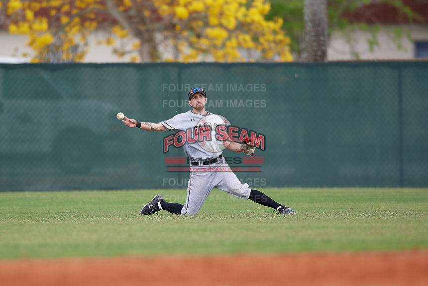 Edgewood Eagles center fielder Bryan Sternig (1) during the second game of a double header against the Bethel Wildcats on March 15, 2019 at Terry Park in Fort Myers, Florida.  Bethel defeated Edgewood 3-2.  (Mike Janes/Four Seam Images)