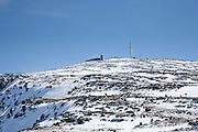 Appalachian Trail - The summit of Mount Washington during the winter months in the White Mountains, New Hampshire USA