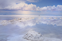 BOLIVIA - ALTIPLANO<br /> Impressions of UYUNI SALTLAKE in rainy season<br /> The huge white saltpan covered with heavy rainfall  looks like a shiny mirror of the sky in all rainbow colours<br /> <br /> Full size: 69,2 MB