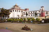 India, Dehradun.  Mindrolling Monastery at the Buddhist Temple of Dehradun.