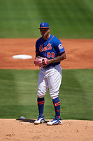 New York Mets pitcher Taijuan Walker (99) during a Major League Spring Training game against the St. Louis Cardinals on March 19, 2021 at Clover Park in St. Lucie, Florida.  (Mike Janes/Four Seam Images)
