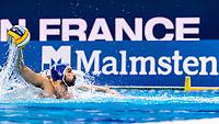 7 ITA RENZUTO IODICE Vincenzo Italy<br /> Malmsten <br /> Budapest 16/01/2020 Duna Arena <br /> France (white caps) Vs. Italy (blue caps) Men<br /> XXXIV LEN European Water Polo Championships 2020<br /> Photo  ©Giorgio Scala / Deepbluemedia / Insidefoto