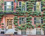 The home of Senator John Kerry on Beacon Hill, Boston, MA, USA