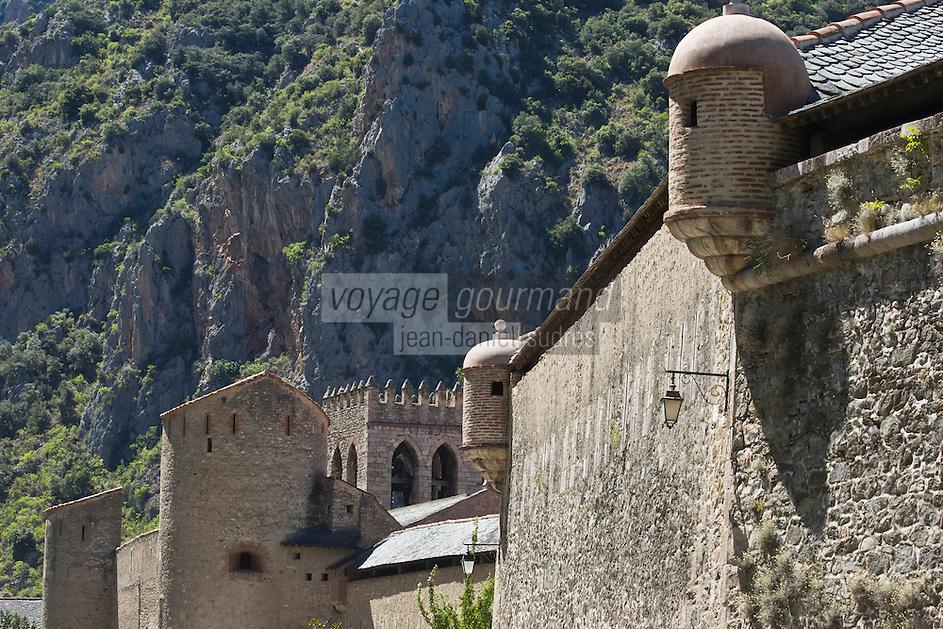 Europe/France/Languedoc-Roussillon/66/Pyrénées-Orientales/Conflent/Villefranche-de-Conflent: La Ville fortifiée et les remparts Vauban