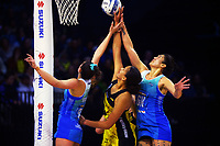 Action from the ANZ Premiership netball match between Central Pulse and Northern Mystics at TSB Bank Arena in Wellington, New Zealand on Sunday, 18 July 2021. Photo: Dave Lintott / lintottphoto.co.nz