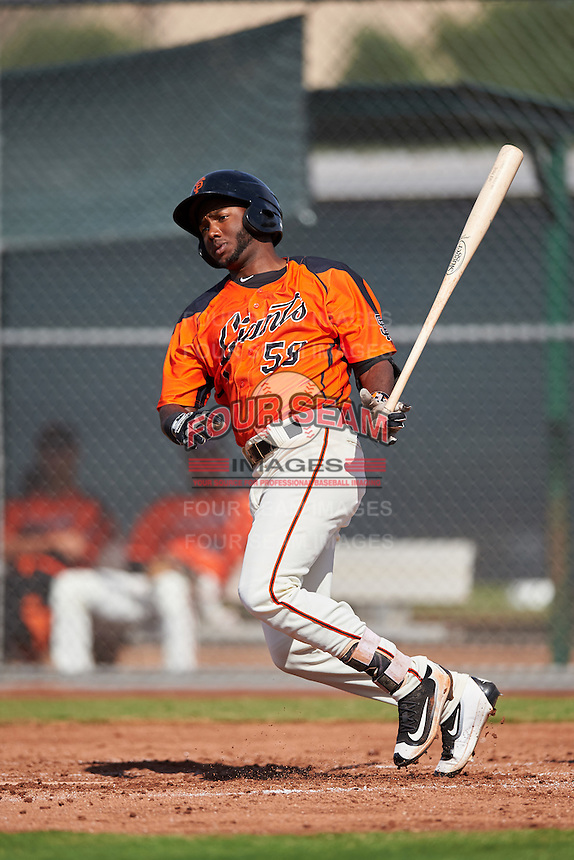 San Francisco Giants Sandro Fabian (59) during an Instructional League game against the Colorado Rockies on October 8, 2016 at the Giants Baseball Complex in Scottsdale, Arizona.  (Mike Janes/Four Seam Images)