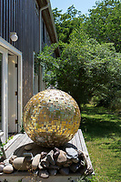 Sculpture in the backyard