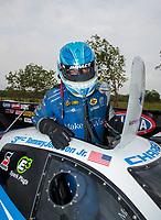 Apr 13, 2019; Baytown, TX, USA; NHRA funny car driver Tommy Johnson Jr during qualifying for the Springnationals at Houston Raceway Park. Mandatory Credit: Mark J. Rebilas-USA TODAY Sports
