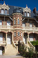 France, Calvados (14), Côte Fleurie, Houlgate: Villa l'Annonciade, 1895, style balnéaire normand  //  France, Calvados, Côte Fleurie, Houlgate: Villa l'Annonciade, 1895,