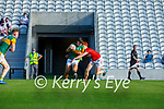 Paul O'Shea Kerry takes on Cork's James McCarthy during the U20 MFC game in Pairc Uí Caoimh last Thursday evening
