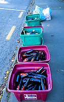 Roadside recycling in Masterton, New Zealand on Friday, 4 August 2020. Photo: Dave Lintott / lintottphoto.co.nz
