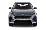 Car photography straight front view of a 2021 KIA Sportage LX 5 Door SUV Front View