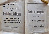 Europe/France/Aquitaine/24/Dordogne/Sorges: Musée de la Truffe, Sorges: Tract du Syndicat des Trufficulteurs _ Reproduction - Collection:  Musée de la Truffe, Sorges