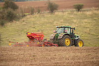 12-10-2021 Drilling Winter wheat in Rutland<br /> ©Tim Scrivener Photographer 07850 303986<br />      ....Covering Agriculture In The UK....