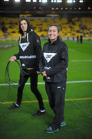 Skysport staff during the Steinlager Series rugby union match between the New Zealand All Blacks and Wales at Westpac Stadium, Wellington, New Zealand on Saturday, 18 June 2016. Photo: Dave Lintott / lintottphoto.co.nz