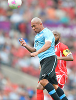 July 26, 2012..UAE's Ismaeil Matar (10) and Uruguay's Egidio Arevalo (17). UAE vs Uruguay Football match during 2012 Olympic Games at Old Trafford in Manchester, England. Uruguay defeat United Arab Emirates 2-1...