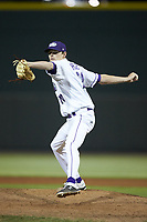 Winston-Salem Dash relief pitcher Codi Heuer (20) in action against the Wilmington Blue Rocks at BB&T Ballpark on April 16, 2019 in Winston-Salem, North Carolina. The Blue Rocks defeated the Dash 4-3. (Brian Westerholt/Four Seam Images)
