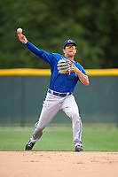 Toronto Blue Jays Gunnar Heidt (28) during practice before a minor league Spring Training game against the Pittsburgh Pirates on March 24, 2016 at Pirate City in Bradenton, Florida.  (Mike Janes/Four Seam Images)