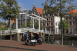 Gravestenenbrug Bridge over the Spaarne River, Haarlem, Holland, Netherlands.