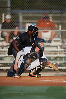 Catcher William Barter (33) during the WWBA World Championship at Lee County Player Development Complex on October 8, 2020 in Fort Myers, Florida.  William Barter, a resident of Pensacola, Florida who attends Pensacola Catholic High School, is committed to Tulane.  (Mike Janes/Four Seam Images)