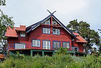 Fischerhaus in Nida auf der kurischen Nehrung, Litauen, Europa