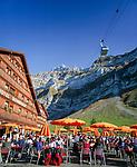 Switzerland, Canton St. Gallen, Schwaegalp: aerial cable car 'Schwaegalp–Saentis'   Schweiz, Kanton St. Gallen, Schwaegalp: die Luftseilbahn Schwaegalp–Saentis