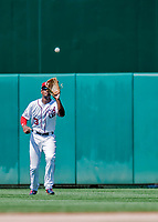120 May 2018: Washington Nationals outfielder Michael Taylor pulls in the first out of the 8th inning against the Los Angeles Dodgers at Nationals Park in Washington, DC. The Dodgers defeated the Nationals 7-2, sweeping their 3-game series. Mandatory Credit: Ed Wolfstein Photo *** RAW (NEF) Image File Available ***