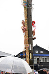 February  20th, 2016, Inazawa, Japan - Participant of the Naked Man festival is preparing ceremonial bamboo pole on Saturday, February  20, 2016.<br /> The festival organised by Konomiya Shrine, takes place annually on the 13th day of the new year of the lunar calendar. It is one of the oldest festivals in Japan. Since the old days, the participants are men only, mostly of the ages 24, 42 and 61, which are considered unlucky in Japan. By taking part in the festival they are hoping to avoid the bad luck throughout the coming year. (Photo by Julian Krakowiak/Aflo)